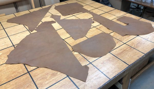 Brown leather panels for sale
