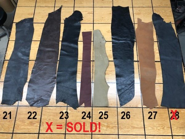 Belting leather strips for sale