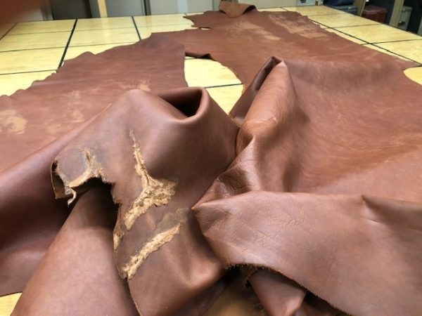 Soft brown leather sides on sale