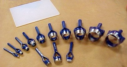 wide range of punch sizes available