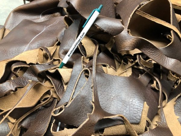Bison Leather Scrap sold by the pound