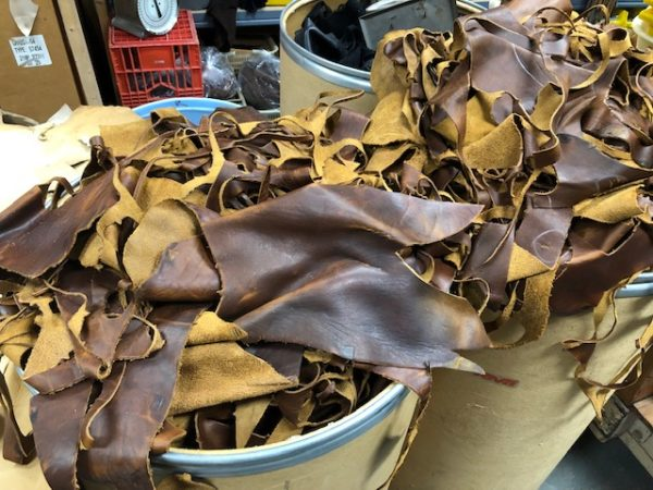 Golden brown rustic leather for sale