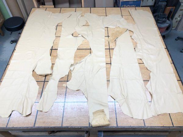 Garment leather in tan