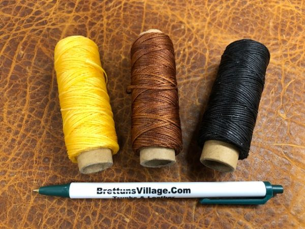 1 ounces spools of waxed handsewing thread, three colors