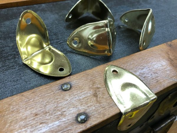 Brass Plated Steel Steamer Trunk Edge Clamps