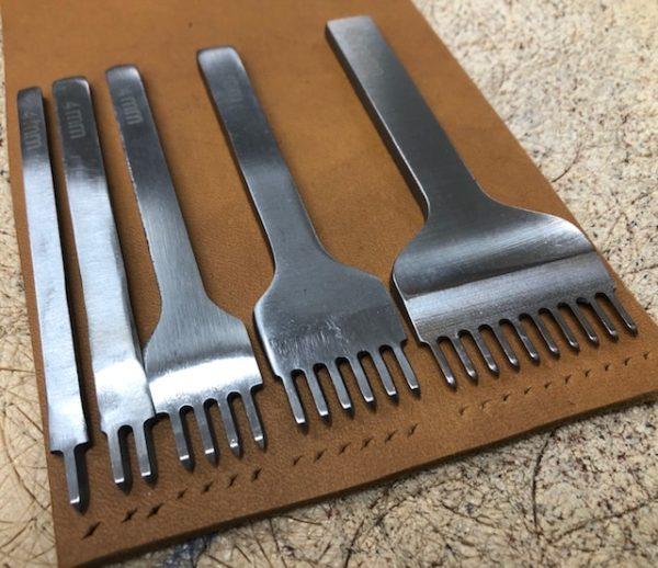 Pricking irons or thonging chisels