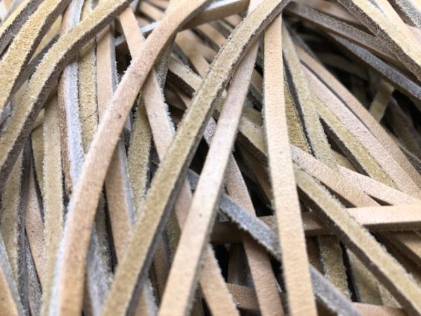 tan laces in 7 to 9 inch lengths