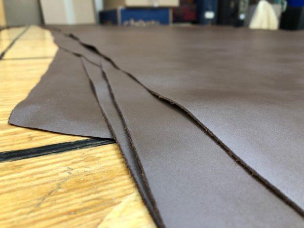 Walnut brown cowhide leather