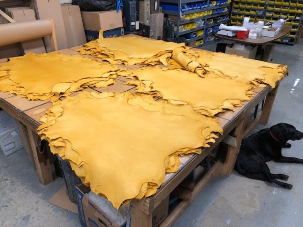 gold sheep leather hides on sale