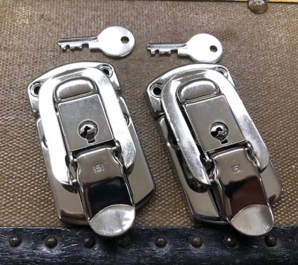 Nickel 151 Locking Hasps or Drawbolts for Automobile Trunks