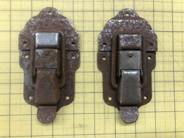 Large Trunk Hasps or Drawbolts Available in Brass Antique Brass Old Stock Rust, or Old Stock Brass HASP2