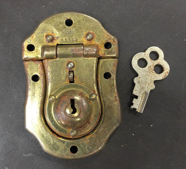 Excelsior Lock Works 1880s Chest Lock with Key