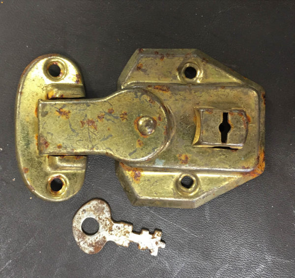 Old Stock Original Small Locks with Keys for Doll Trunks or Boxes