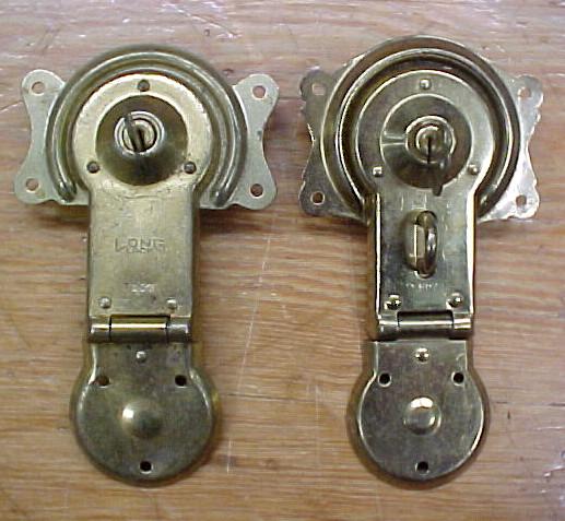 Late 1800's Excelsior Lockworks Trunk Locks
