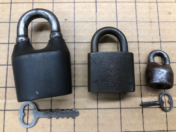 Set of old padlocks