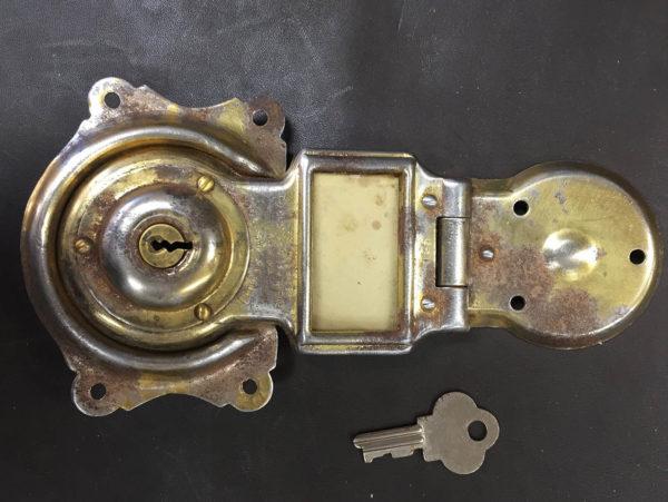 Old Stock Original Everlasting Lock Co. Trunk Lock with Key