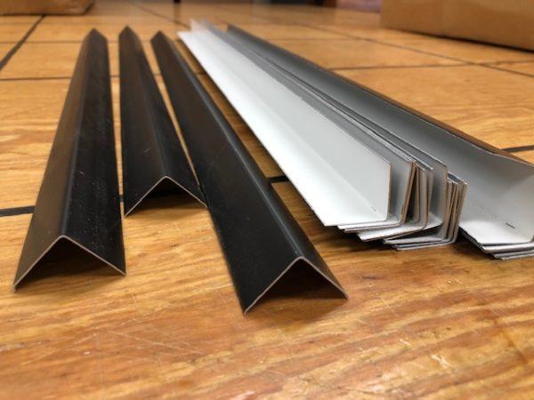 Black Corner Metal for Steamer Trunk Repair or New Construction