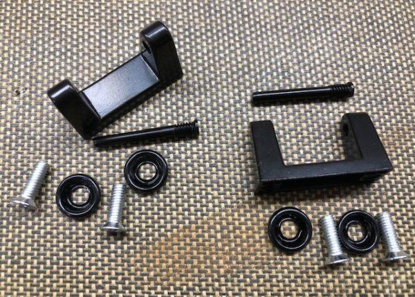 Black Finish Suitcase Handle Bracket Sets