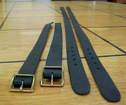 Steamer trunk strap sets made of USA leather