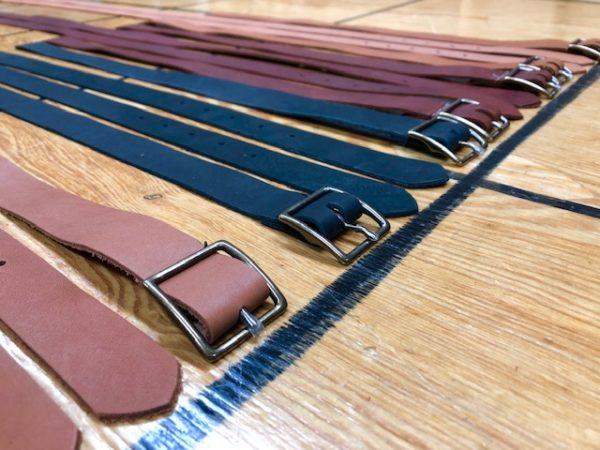 Steamer trunk strap sets