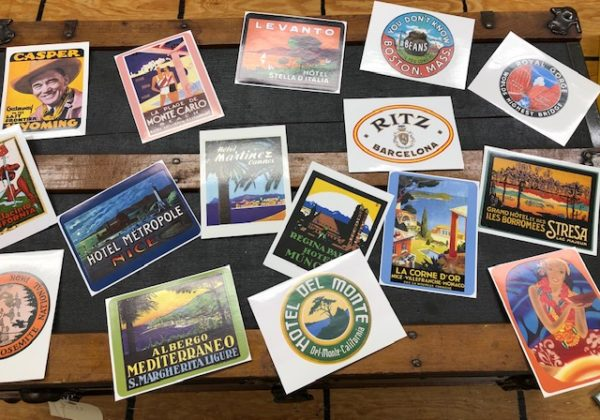 Reproduction Travel Stickers to Decorate Your Steamer Trunk