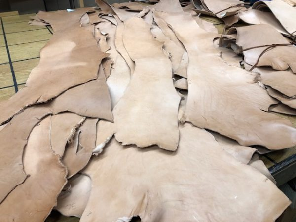 Vegetable Tanned Tooling Leather Bellies in 9-10 oz thickness Available Singly or in Quantities of 3 or 10