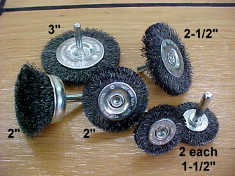 Round Wire Wheel Set for Sprucing Up Your Steamer Trunk