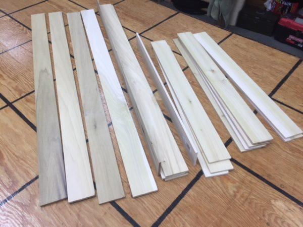 Maine Poplar Hardwood Slats for Steamer Trunks