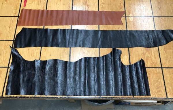 1816 clearance lot of leather hides