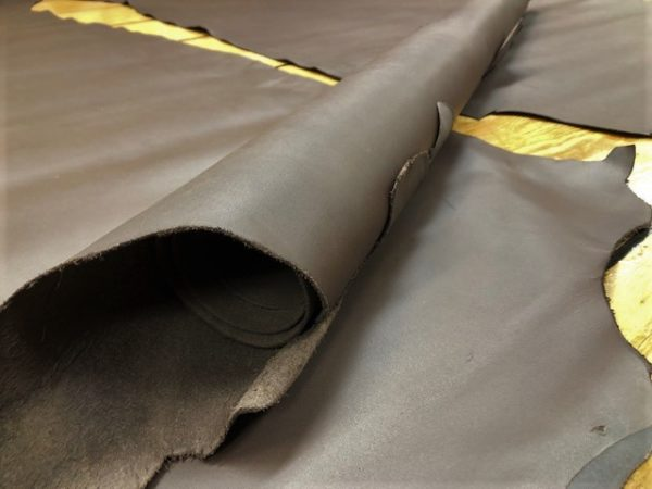 chocolate brown cowhide leather sides