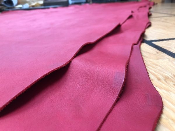 soft red leather hides for sale