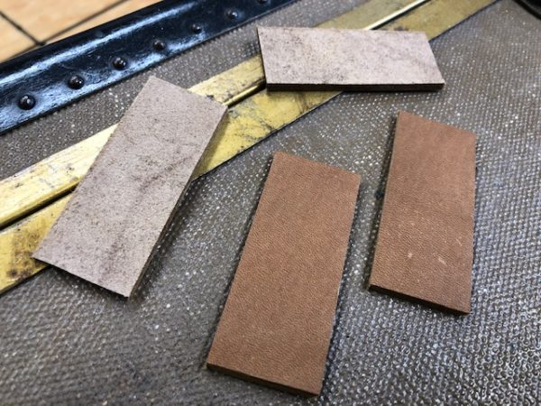 leather hinges for boxes and cases