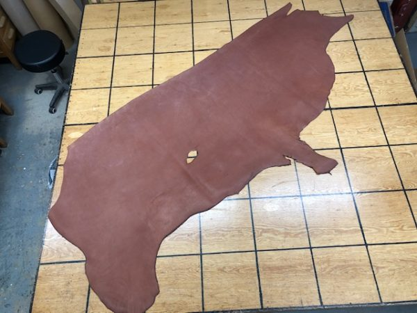 Large Leather Side of 6 oz Brown USA Cattlehide