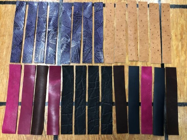 colorful leather strips