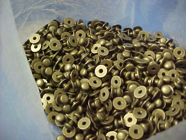 2.5 POUNDS of Sam Browne Buttons in Antique Brass