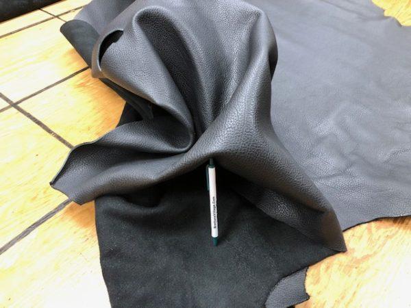 Black Floater Soft Leather Sides in 5 oz
