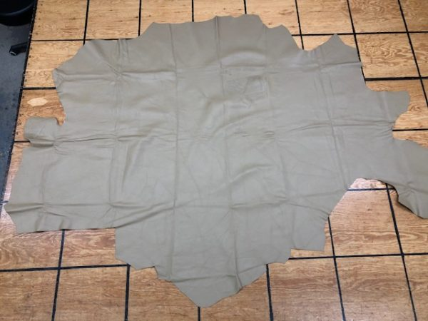 Tan Upholstery or Garment Leather Partial Cowhide