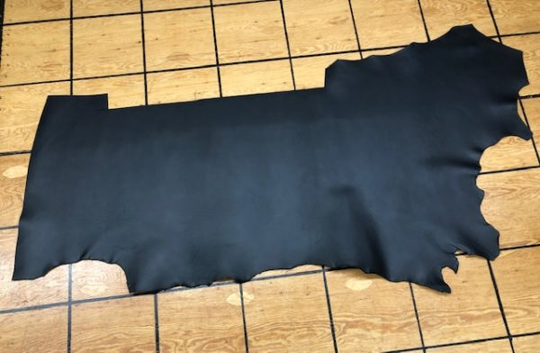 Black Matte Side, USA Oil Tanned Steer Leather
