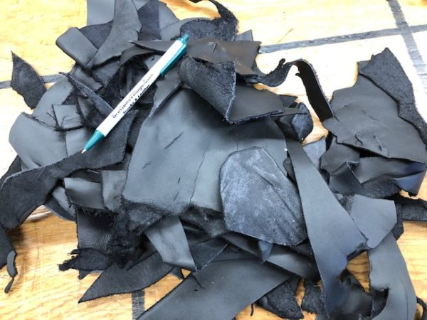 Small Black Leather Scrap Pieces at Reduced Cost Plus Free USA shipping