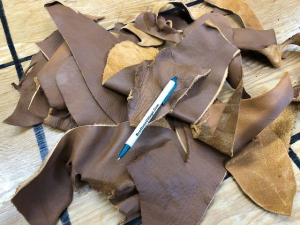 Small Brown Leather Scrap Pieces at Reduced Cost Plus Free USA shipping