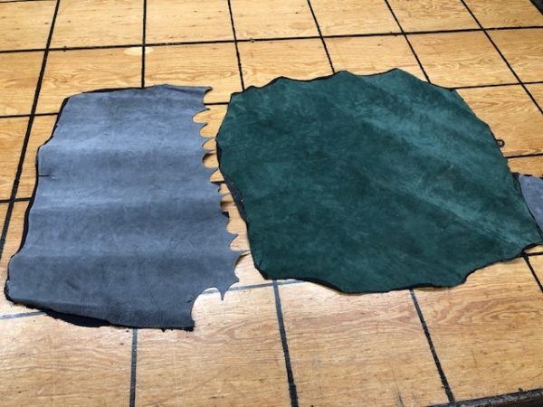 Two Lined Pig Skins - this leather doesn't stretch