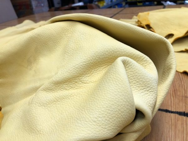 Genuine USA Whitetail Deer Hides in Golden Tan; Milled for Softness