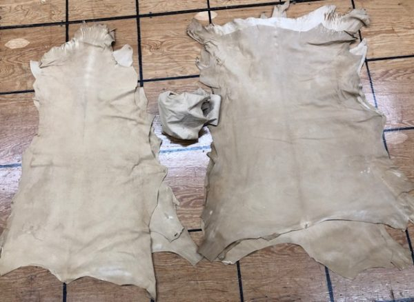 Very Thin Vegetable Tanned Goat Skiver Leather Hides