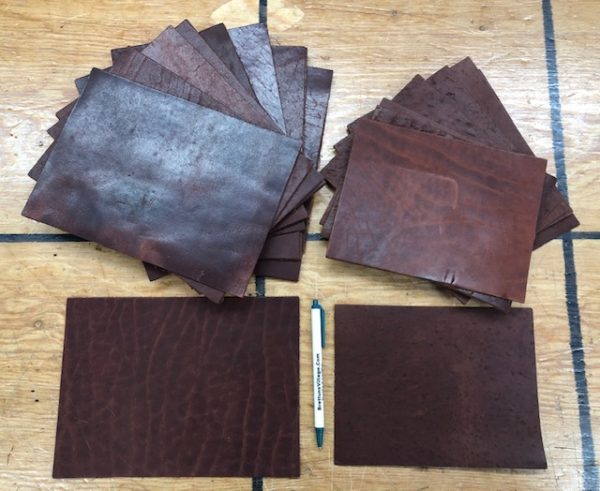 Craft Project Panels of Sunrise WigWam Leather Sold By The Piece