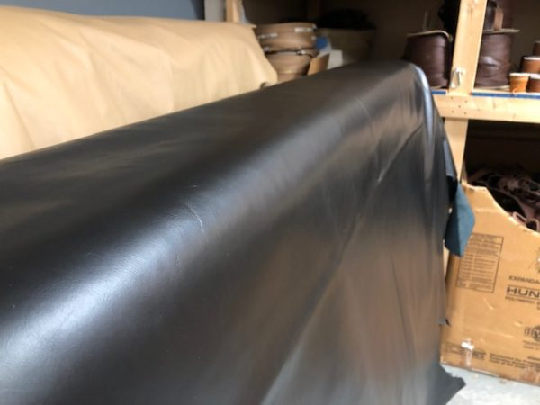 Full Calf Hides in Black with Nice Luster - thin and soft leather hides for garments or upholstery
