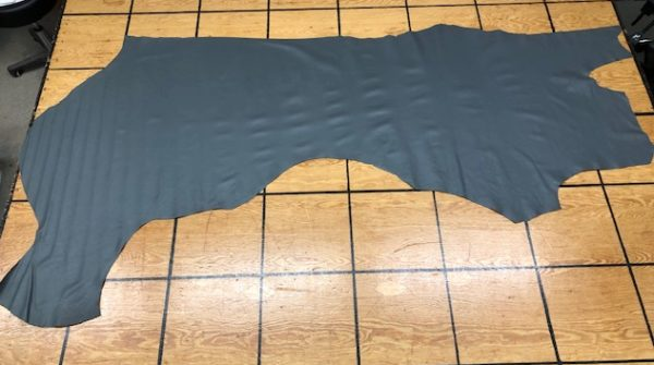 Gray upholstery or garment leather side for sale