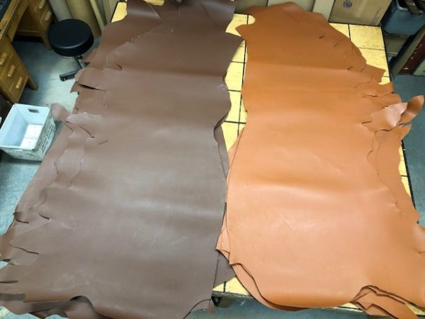 LARGE Vegetable Tanned Bull Sides 10 Ounce Thickness Available in Dark Chocolate or Whiskey with Free 48-State USA shipping!