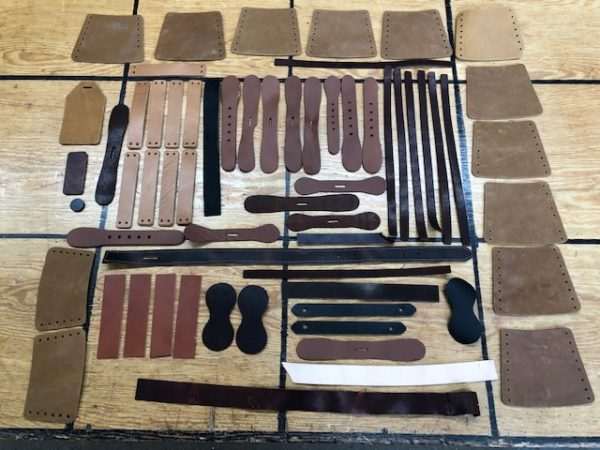 Collection of Steamer Trunk Parts Sold as One Lot