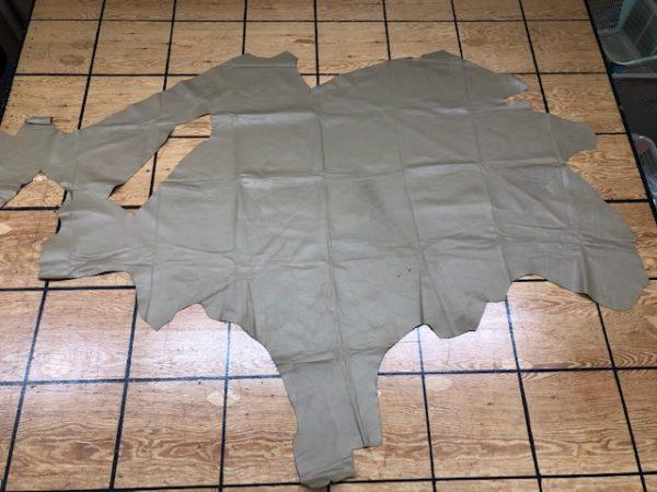 Large Panel of Khaki Upholstery or Garment Leather