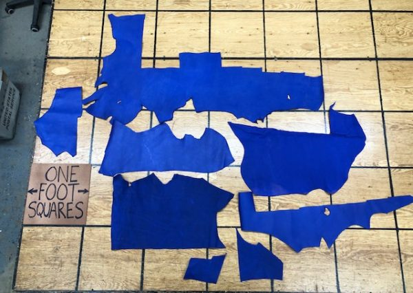 Set of Electric Blue Garment Leather Panels - A Very Lively Leather Collection